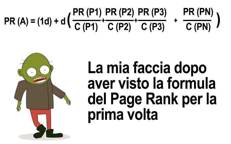 calcolo del page rank e formula